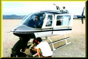 One of many helicopters used on Coyote Dry Lake.